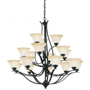 Thomas Lighting Prestige 18-Light Hanging Sable Bronze Chandelier