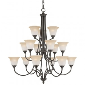 Thomas Lighting Harmony 15-Light Aged Bronze Chandelier
